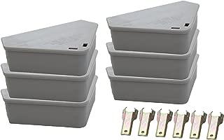 Venditor 6 Pack Mouse Bait Station with 6 Keys Child - Pet Safe Rodent Bait Station with 2 Bonus Ant Poison Stations - No Bait