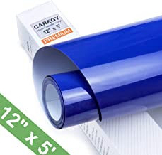 CAREGY Iron on Heat Transfer Vinyl Roll HTV (12''x5',Blue)