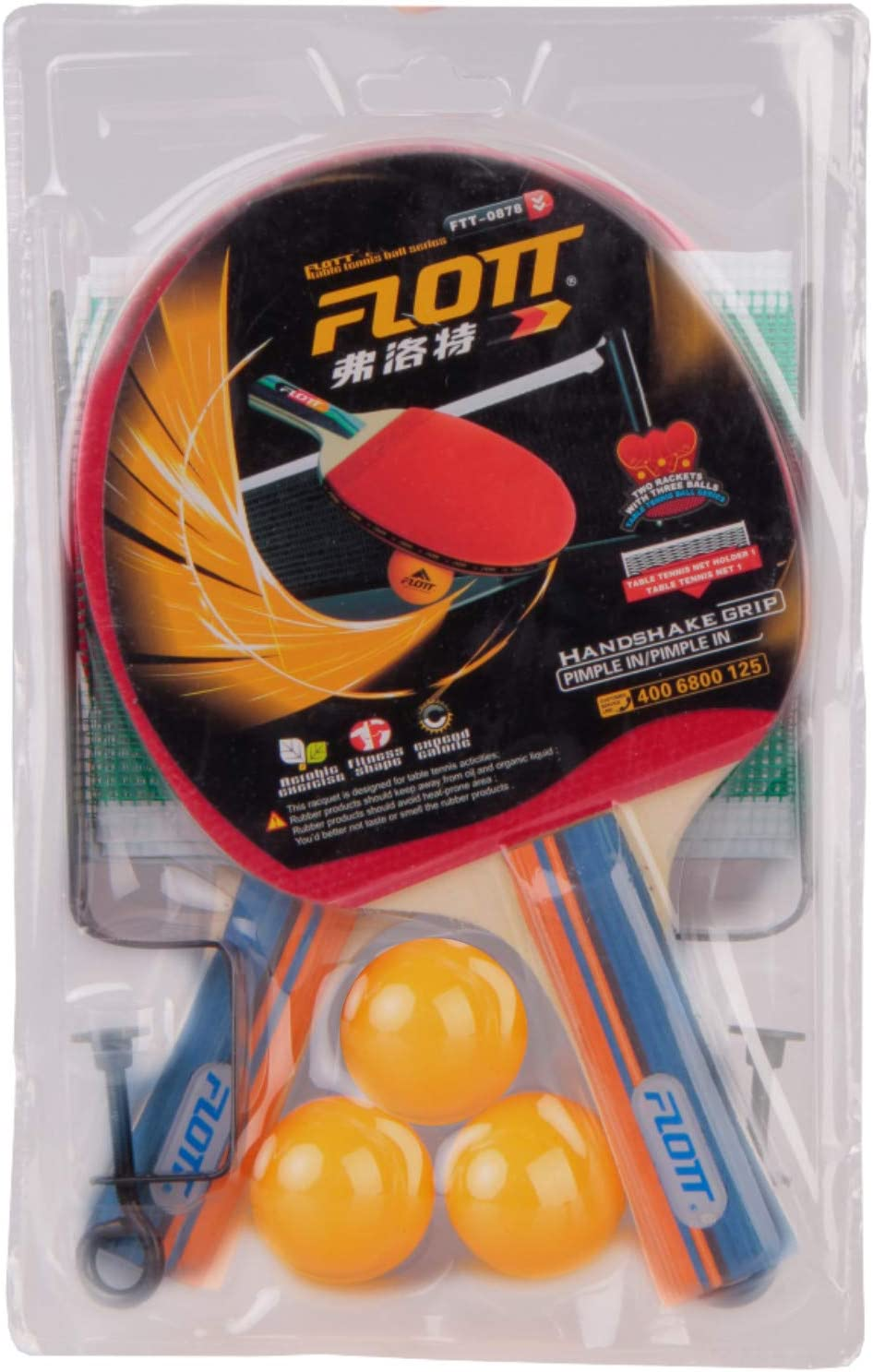 YoungLA Ping Pong Paddles and Balls | Table Tennis Set | Net and