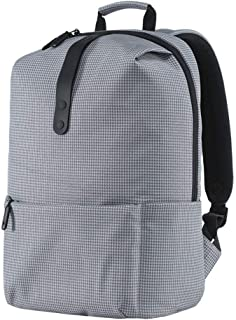 Xiaomi Shoulder Backpack Casual Bag Schoolbag Polyester Material Zipper Youth College Leisure Style 15.6 inch Laptop Computer Pack Water Resistant for Boys Girls Students Man Woman (Grey)