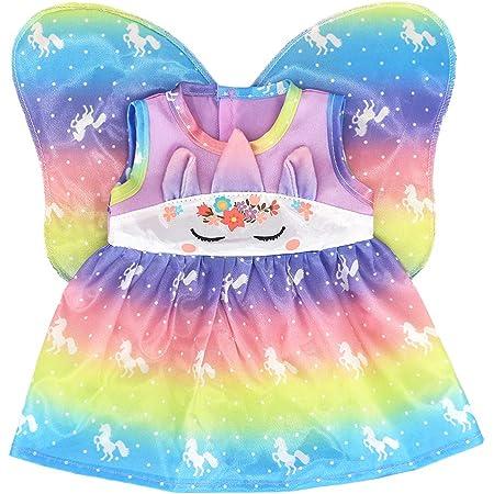 Miotlsy Ropa para Muñeca Vestido Ropa de Muñecas para New Born Baby Doll Vestidos con alas para Muñeca Hechos para Muñecas de 18 Pulgadas