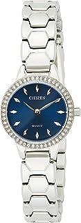 ساعة كوارتز بعرض انالوج وسوار من الستانلس ستيل من سيتيزن للنساء - EZ7010-56L