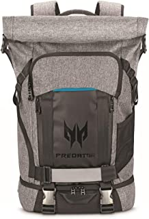 """Acer Predator Rolltop Gaming Backpack, Water Resistant Lightweight Travel Backpack Fits and Protects Up to 15.6"""" Gaming La..."""
