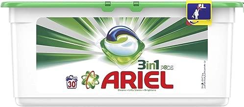 مسحوق اريال 3 في 1، كبسولات سائلة، رائحة أصلية، 30 قطعة.
