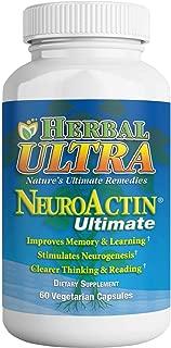 NeuroActin - Memory Vitamins, Elderly Brain Function Supplement for Healthy Brain Focus, Energy, Memory, and Mood Functions - Herbal Ultra (60 Count)