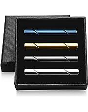 Vignac 4本セット ネクタイピン メンズ ファッション シンプル 日常仕事 結婚式 スーツ ビジネス 真鍮製 タイピン おしゃれ 高級 ギフトボックスを提供