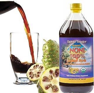 Tahiti Trader Organic Noni 100% Island Style Juice 32 oz (1 Pack) - Noni Juice Organic Pure Noni Juice - Organic Noni Juic...