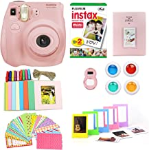 Fujifilm Instax Mini 7S Camera + Photo Accessories Bundle Instant Camera w Fun + Colorful Album, Stickers, Frames, Close Up Lens & Color Filters (Light Pink)(Renewed)