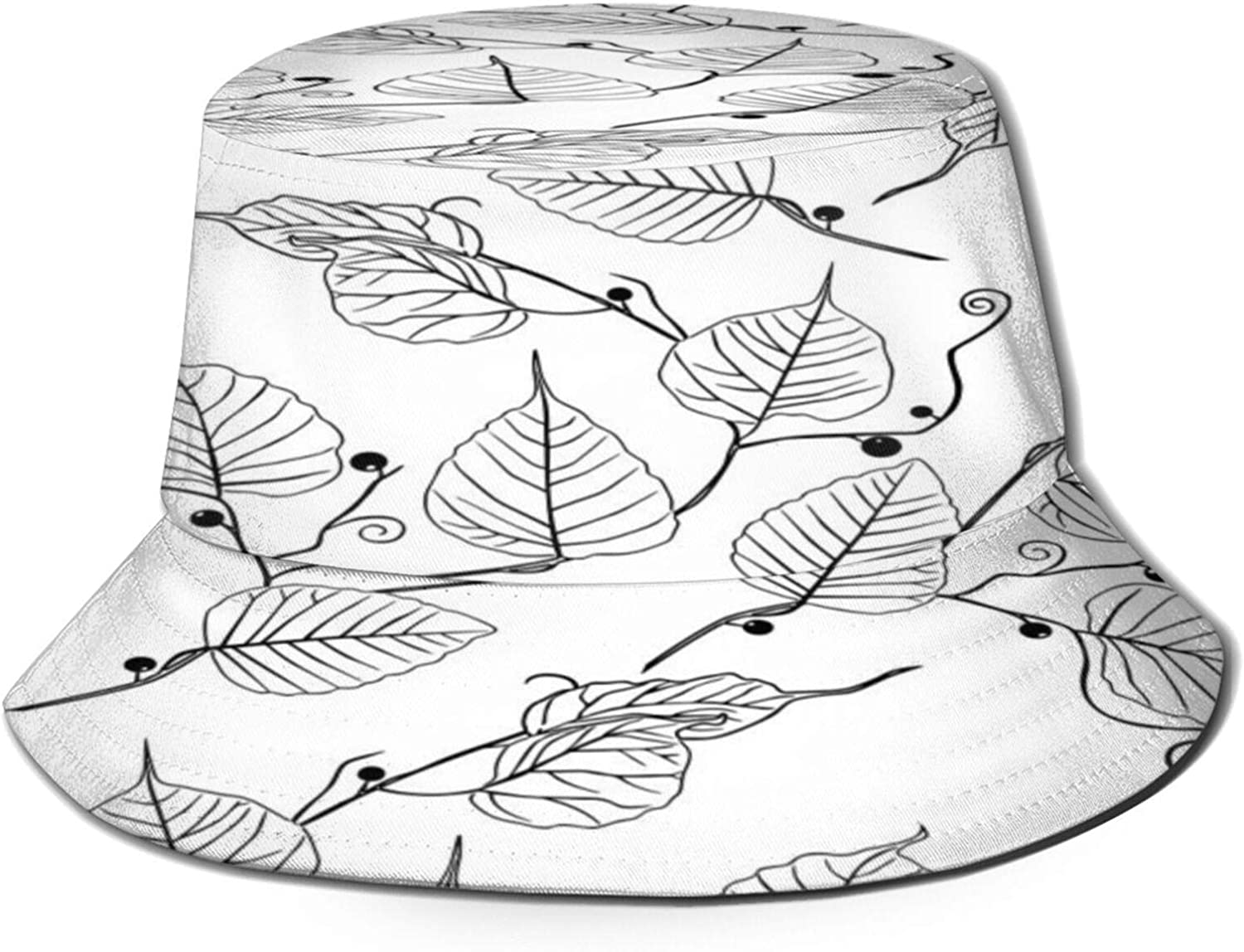 Long-awaited Tree Branches Leaves Pattern Bucket Hat Pa Unisex Sun Summer Cheap bargain