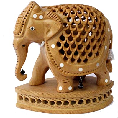 Amazon Com Hand Carved Indian Royal Antic Jali Elephant