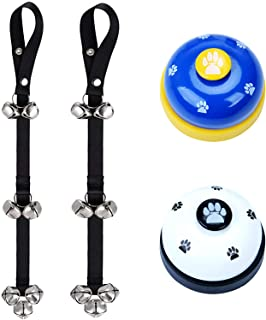 Special/&Kind Potty Dog Doorbells Housetraining Dog Bell Dog Bells for Potty Training Your Puppy Doggie with Doorbell Dog Doorbell Door Knob Potty Training Walk Outside Black