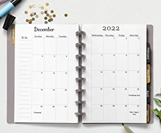 TUL Junior 2019-2020 Academic Calendar 8 DISCS ARC Dated Monthly Inserts Month on One Page