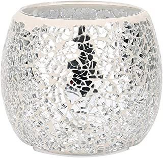 Ecosin Glass Candle Holders, Table Props Handmade Mosaic Glass Candlestick Wedding Ornaments That Props Gifts (H)