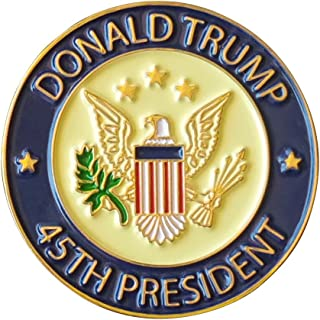 Donald Trump 45th President Lapel Pin Hat Tac - Trump Pin,Jewelry Metal, Pack of 1, White House Presidential souvenir & Collection