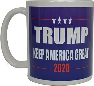 Donald Trump Coffee Mug Keep America Great Trump 2020 Novelty Cup President of The United States MAGA (Blue)