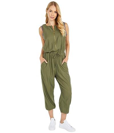 Tommy Hilfiger Adaptive Watson Knit/Woven Jumpsuit (Deep Lichen Green) Women