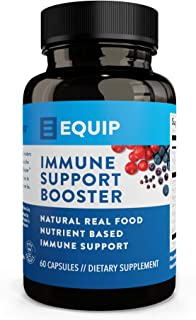 Equip Immunity Support Booster with Vitamin C, Zinc & Magnesium | Natural, Nutrient Based Supplement | Non GMO, Vegan Friendly, Made in USA | 60 Capsules