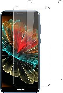 DOSNTO Protector de Pantalla para Huawei Honor 7X, 2 Pack Cristal Vidrio Templado Premium Huawei Honor 7X [3D-Touch/9H Dureza][Anti-Arañazos] [Sin Burbujas] [Kit Fácil de Instalar][Funda Compatible]