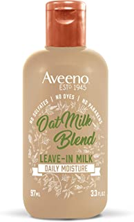 Aveeno Hydrating Oat Milk Leave-In Milk Hair Treatment, 3.3 Ounce