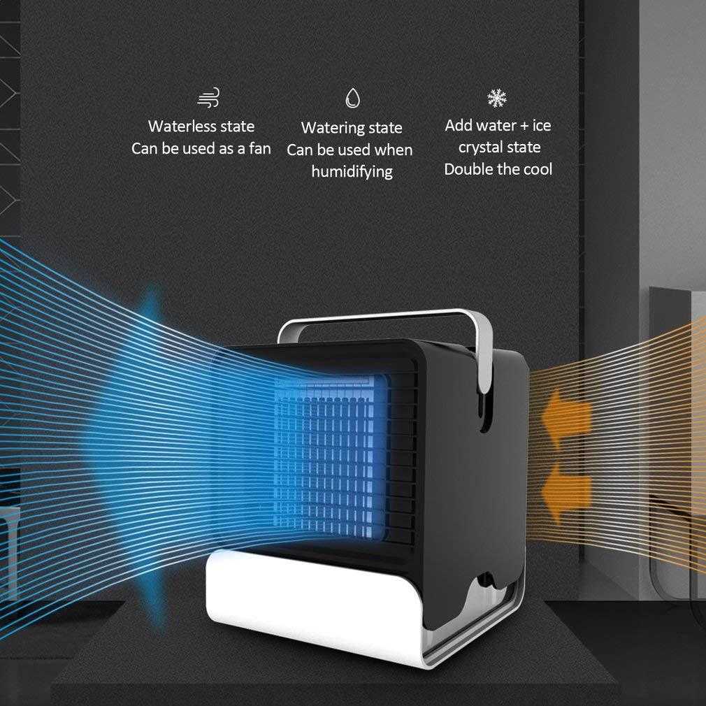 MIKLL Mini refrigerador de Aire,USB de bajo Ruido Refriger de Aire ...