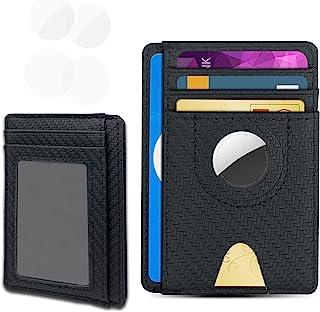 Aukvite Portemonnee Voorvak Met Air Tag-beschermhoes, Portemonnee van PVC Compatibel met Air Tags, Kan Voldoende Creditcar...