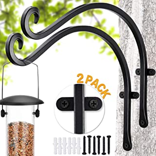 """Bird Feeder Bracket  Bird Feeders for Outside Hanger (2 Pieces / 12"""") More Stable and Sturdy Hanging Plant Bracket"""