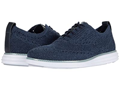 Cole Haan Original Grand Stitchlite Wing Tip Oxford (Navy Ink/True Blue/Vintage Indigo Knit/Optic White) Men