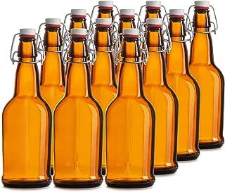 Rockyin 25Pcs Red Silicone Grolsch Gaskets for Swing Flip Top Bottle Home Brew Beer Bottle Seals