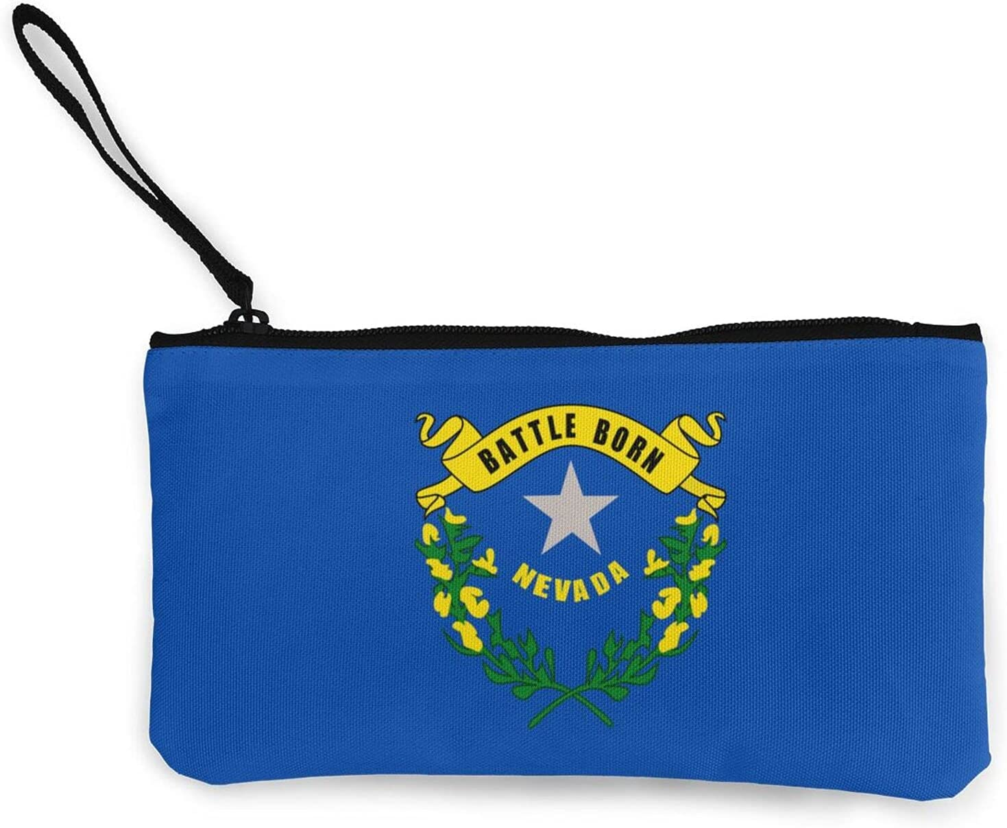Nevada State Flag Multifunction Travel Toiletry Pouch Small Canvas Coin Wallet Bag Zipper