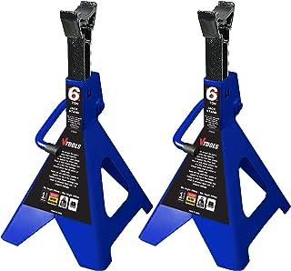 VTOOLS 6 Ton Adjustable Car Jack Stands,2 Piece Set,VT2112