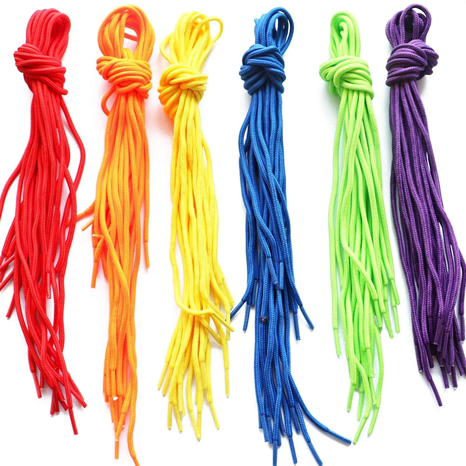 LGEGE 60 Pcs Colored Threading for Beading, Threading Lace Beading Cords Beading String(6 Colors)