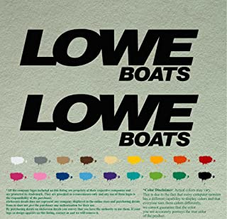 Pair of Lowe Boats Outboards Decals Vinyl Stickers Boat Outboard Motor Lot of 2 (12
