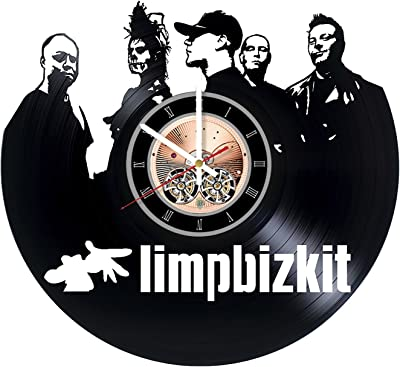 Limp Bizkit Design Vinyl Wall Clock Rap Rock Band Great Men, Women, Kids, Girls and Boys, Birthday, Christmas Beautiful Home Decor - Unique Design That Made Out of Vinyl LP Record