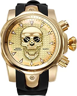 Skull Gold Wrist Watches for Sale 3D Skull Ghost Large Cool Dial Designer Watches