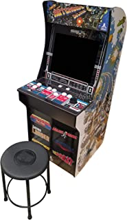 Creative Arcades 6 in 1 Atari Cabinet Arcade 1Up Machine for Home   6 Classic Games Pre-Installed   Plug and Play - Fully Assembled   1 - 2 Player   Stool Included   17