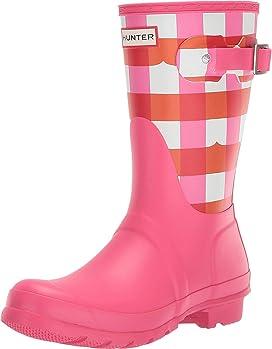c9a2fb533 Hunter. Original Short Gloss Rain Boots. $139.95. Original Short Gingham