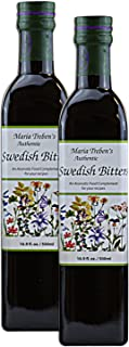 Maria Treben's Authentic Swedish Bitters Natural Home Detox Remedy (2 x 16.9oz/500ml)
