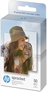 "HP ZINK(R) Sticker Photo Paper for HP Sprocket Printer (2x3""), 50 Sheets,1DE39A"