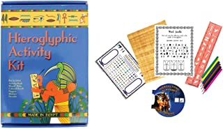 Discoveries Egyptian Imports - Ancient Egyptian Boxed Hieroglyphic Activity Kit - Made in Egypt
