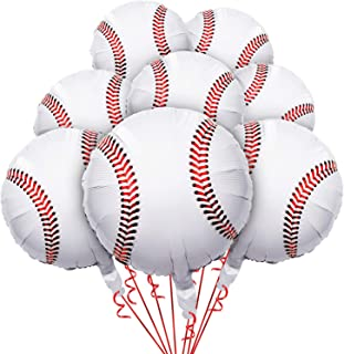 8 Pieces 18 inches Baseball Balloons Foil Mylar Baseball Balloons for Baby Shower Birthday Party Sports Themed Party Decor...