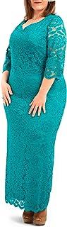 PARAISO Curvy - Vestito da festa con sottogonna elasticizzata, taglie extra large, realizzato in Spagna, comodo ed elegante.