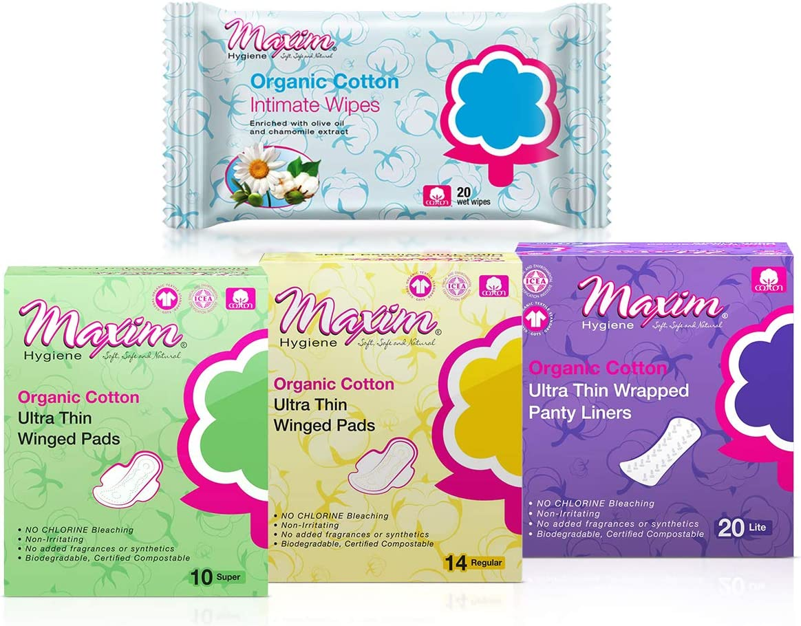 Maxim Organic Cotton Sanitary Pads Max 61% OFF Liners Regul Pack Limited time cheap sale Combo Panty