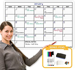 Reusable Dry Erase Laminated Jumbo Wall Calendar, Huge 24-Inch by 36-Inch Size, Huge Monthly Planner for Office, Classroom... photo