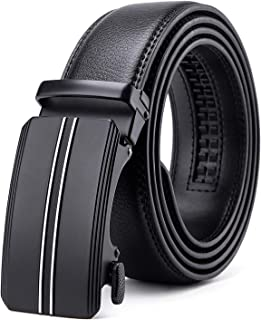 Mens Belt Genuine Leather Ratchet Belt for Men with Automatic Click Buckle Work Gift Box