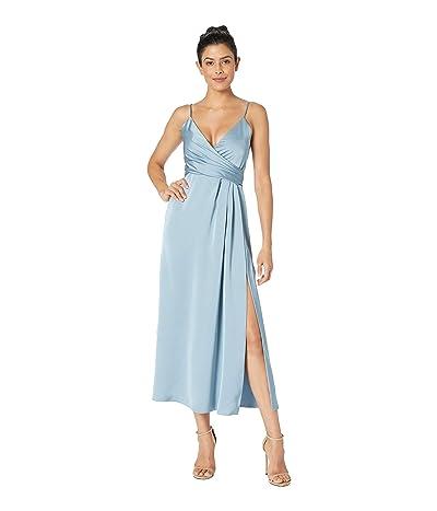 JILL JILL STUART T-Length Satin Wrap Dress (Glacier) Women
