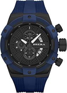 BRERA OROLOGI - Reloj de Cuarzo Analógico para Hombre con Correa de Goma Mod. Supersportivo Brssc4903f