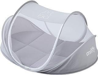 西川リビング ミッフィー コンパクトベッド お昼寝 持ち運び可能 専用バック付き グレー 90x60x45センチメートル (x 1) 1517-50007
