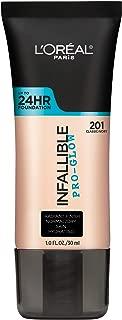 L'Oréal Paris Makeup Infallible Pro-Glow Foundation, 201 Classic Ivory, 1 Ounce