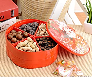 LIUYUN European Style,Double Layer,Fruit Plate Creativity Dried Fruit-Box Candy Dried Fruit Tray-B