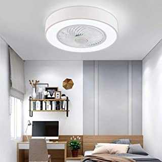 Ceiling Fan with Light, LED Remote Control Stepless...